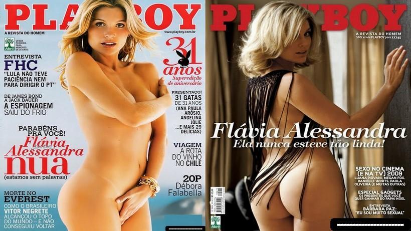 Capas Playboy - Flavia Alessandra nua pelada